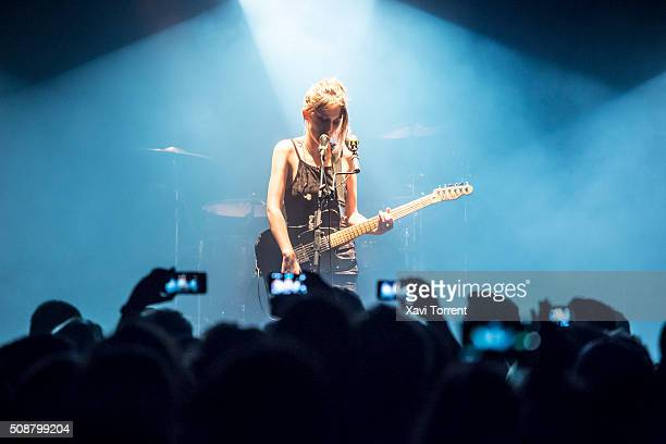 Ellie Rowsell of Wolf Alice performs in concert at Sala Razzmatazz 2 on February 6 2016 in Barcelona Spain