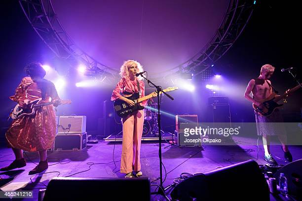 Ellie Rowsell of Wolf Alice performs on stage at Bestival 2014 at Robin Hill Country Park on September 7 2014 in Newport United Kingdom