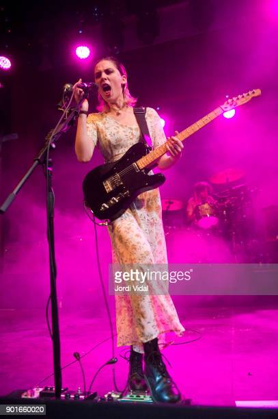 Ellie Rowsell of Wolf Alice performs on stage at Sala Apolo on January 5 2018 in Barcelona Spain