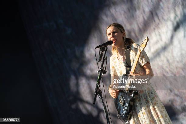 Ellie Rowsell of Wolf Alice performs on stage during TRNSMT Festival Day 2 at Glasgow Green on June 30 2018 in Glasgow Scotland