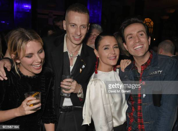Ellie Rowsell Theo Ellis Jessie Ware and Nick Grimshaw attend the Universal Music BRIT Awards AfterParty 2018 hosted by Soho House and Bacardi at The...