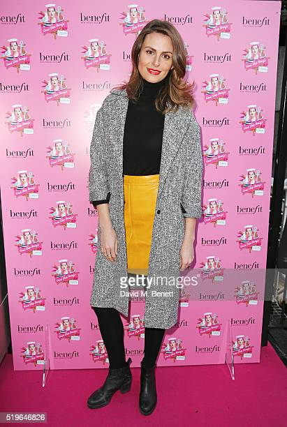 Ellie Taylor attends the launch of 'Good Ship Benefit' a beauty and entertainment destination opening on the River Thames and run by Benefit...