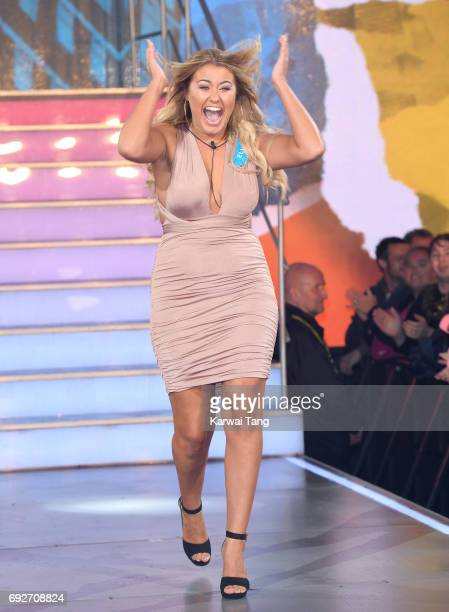 Ellie Young enters the Big Brother house at Elstree Studios on June 5 2017 in Borehamwood England