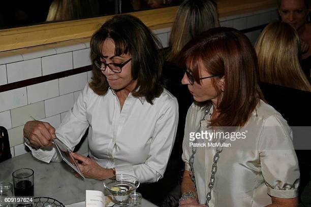 Ellin Delsener and Nicole Miller attend ALEXA RAY JOEL PreConcert Dinner at Schillers Liquor Bar on February 28 2007 in New York City