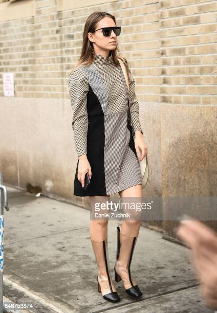 Ellineya is seen outside the Marchesa show during New York Fashion Week Women's S/S 2018 on September 13 2017 in New York City
