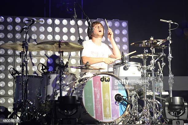 Ellington Ratliff of R5 performs at the Mizner Park Amphitheatre on July 8 2015 in Boca Raton Florida