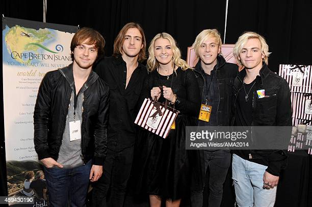 Ellington Ratliff Rocky Lynch Rydel Lynch Riker Lynch and Ross Lynch of R5 attend the 2014 American Music Awards UPS Gifting Suite at Nokia Theatre...