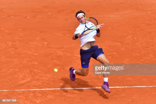Elliot Benchetrit during Day 1 of the the French Open at Roland Garros on May 27 2018 in Paris France