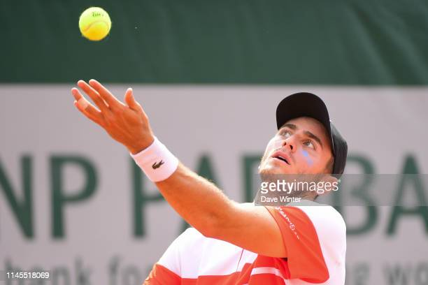 Elliot Benchetrit of France during the third day of qualifying for the main draw at Roland Garros on May 22 2019 in Paris France