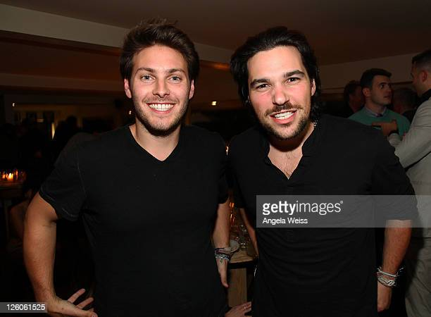 Elliot Bisnow and Jeff Rosenthal of Summit Series attend the Friends N Family Dinner at The Jack Warner Estate on February 10 2011 in Los Angeles...