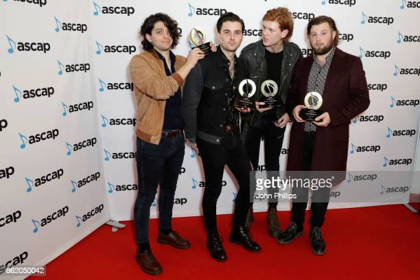 Elliot Briggs Chris Alderton Matt Thomson and Joe Emmett of The Amazons recipients of Vanguard Award attend the ASCAP Awards 2017 at One Marylebone...