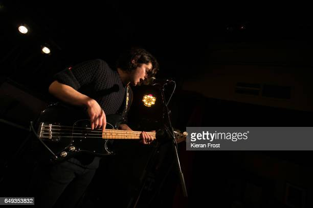 Elliot Briggs of The Amazons perform at Whelan's on March 7 2017 in Dublin Ireland