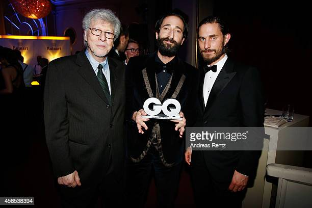 Elliot Brody Adrien Brody and Clemens Schick are seen at the after show party of the GQ Men Of The Year Award 2014 after show party at Komische Oper...