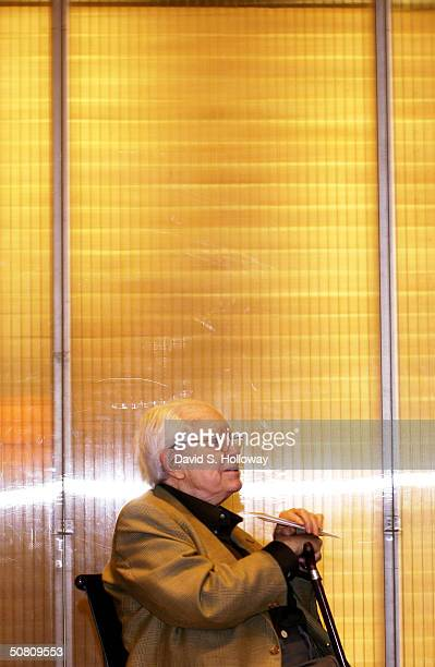 Elliot Carter poses at the Elliott Carter Documentary Concert at the Prada Store during the 2004 Tribeca Film Festival May 6, 2004 in New York City.