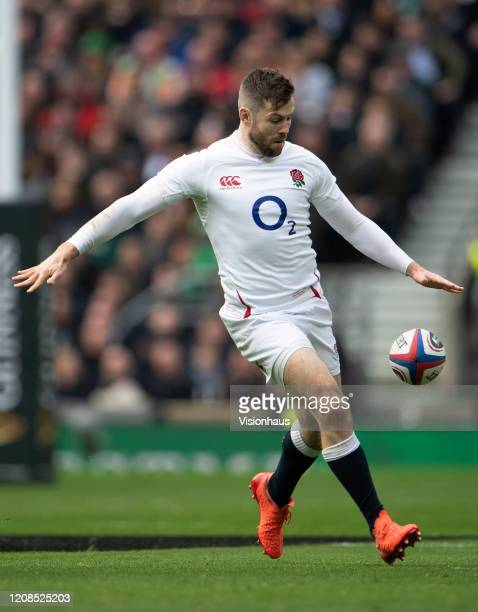 Elliot Daly of England during the 2020 Guinness Six Nations match between England and Ireland at Twickenham Stadium on February 23 2020 in London...
