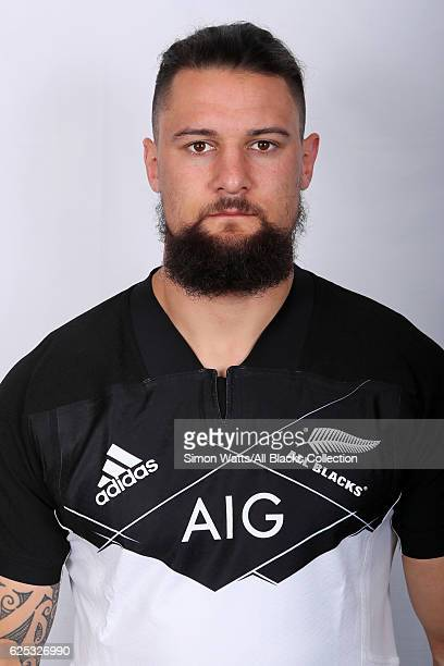Elliot Dixon poses during the All Blacks End of Year Tour 2016 Headshots Session at Auckland International Airport Novotel on October 28 2016 in...