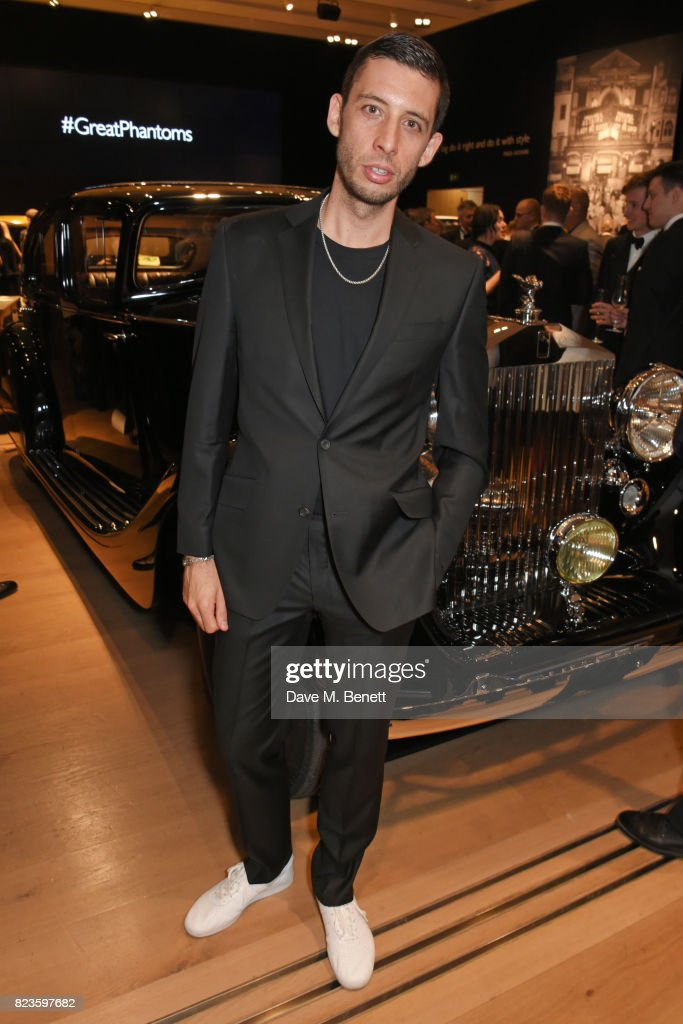 Elliot Gleave aka Example attends the global debut of the new Rolls-Royce Phantom at Bonhams on July 27, 2017 in London, England.