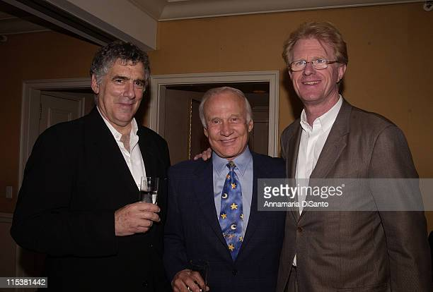 Elliot Gould Buzz Aldrin and Ed Begley Jr during TV Azteca Party at The Penninsula in Beverly Hills CA United States