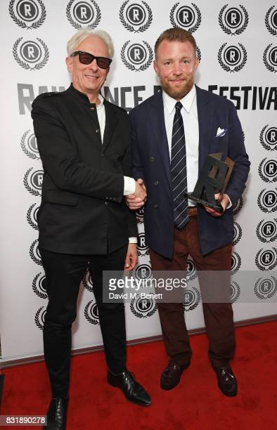 Elliot Grove founder of the Raindance Film Festival and Guy Ritchie winner of the Auteur Award attend the Raindance Film Festival anniversary drinks...