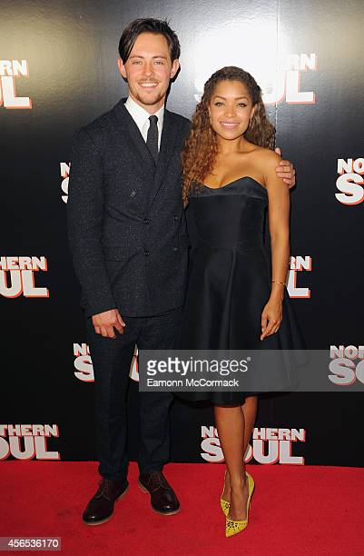 Elliot James Langridge and Antonia Thomas attend the UK Gala screening of 'Northern Soul' at Curzon Soho on October 2 2014 in London England