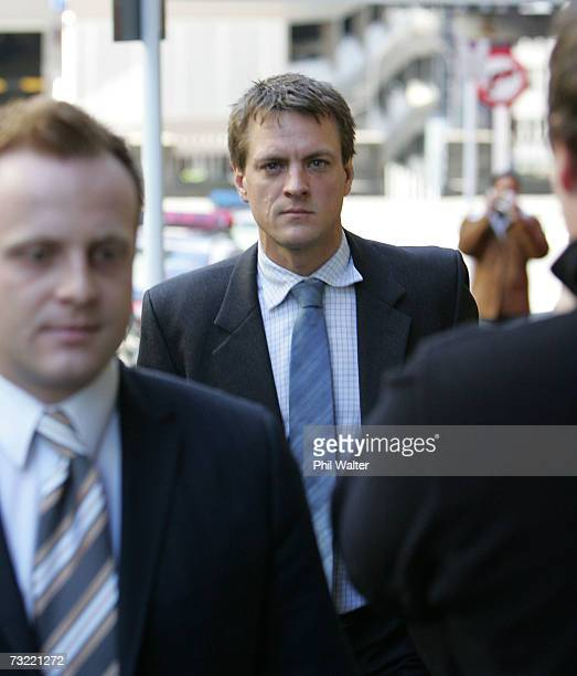 Elliot John Worrall leaves the Auckland District Court in Auckland New Zealand Thursday August 4th 2005 after facing a charge of possession of...