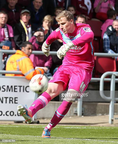 Elliot Justham of Luton Town in action during the Sky Bet League Two match between Northampton Town and Luton Town at Sixfields Stadium on April 30...