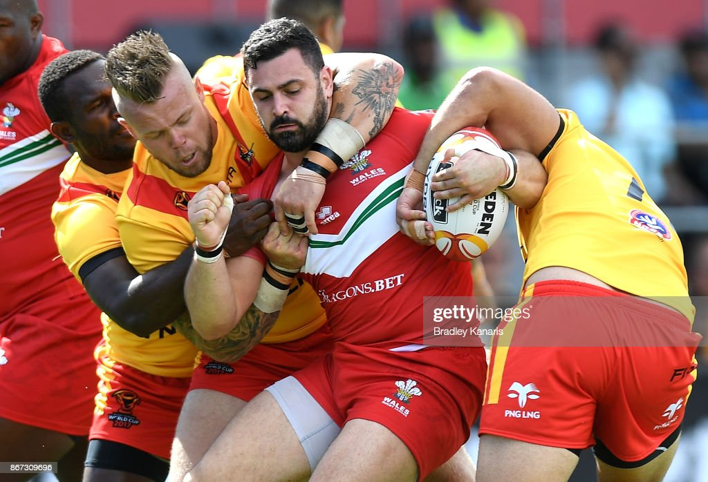 PNG v Wales - 2017 Rugby League World Cup : News Photo