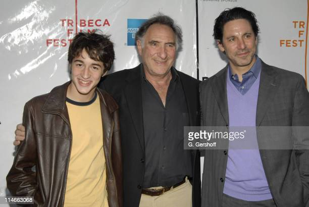 Elliot Korte Judd Hirsch and Scott Cohen during 5th Annual Tribeca Film Festival 'Brothers Shadow' World Premiere at Loews Village VII Theatre in New...
