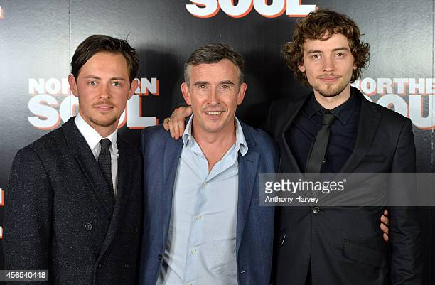 Elliot Langridge Steve Coogan and Joshua Whitehouse attend the UK Gala screening of 'Northern Soul' at Curzon Soho on October 2 2014 in London England