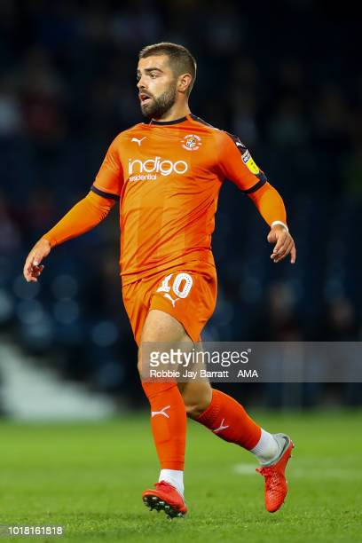 Elliot Lee of Luton Town during the Carabao Cup First Round match between West Bromwich Albion and Luton Town at The Hawthorns on August 14 2018 in...