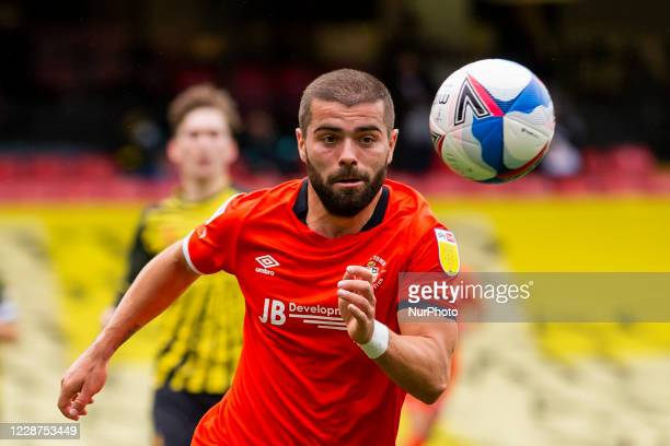 Elliot Lee of Luton Town during the Sky Bet Championship match between Watford and Luton Town at Vicarage Road Watford England on September 26 2020