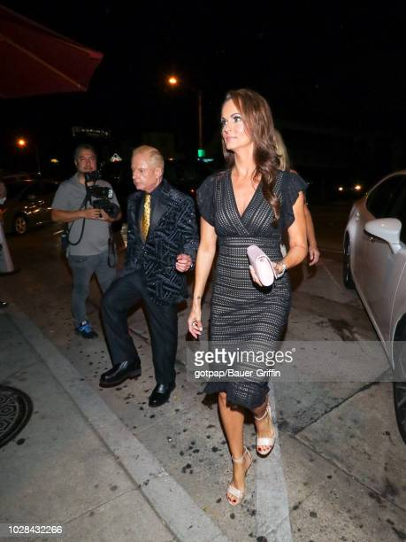 Elliot Mintz and Karen McDougal are seen on September 06, 2018 in Los Angeles, California.