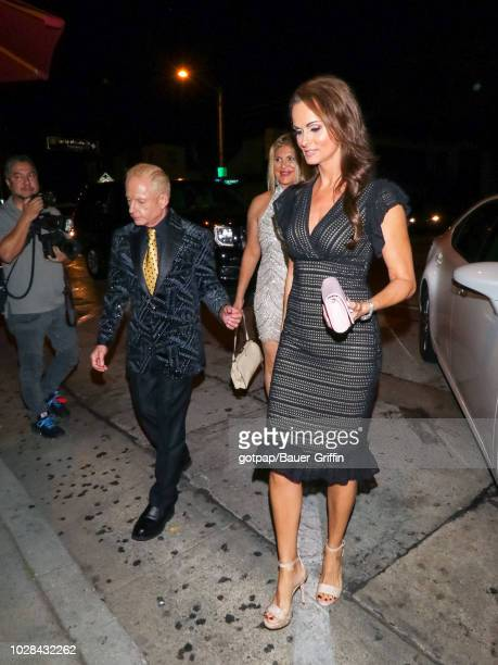 Elliot Mintz Peggy McIntaggart and Karen McDougal are seen on September 06 2018 in Los Angeles California