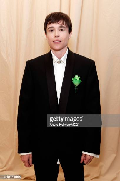 Elliot Page attends The 2021 Met Gala Celebrating In America: A Lexicon Of Fashion at Metropolitan Museum of Art on September 13, 2021 in New York...