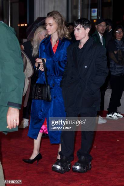 Elliot Page attends the Balenciaga Womenswear Spring/Summer 2022 show as part of Paris Fashion Week on October 02, 2021 in Paris, France.