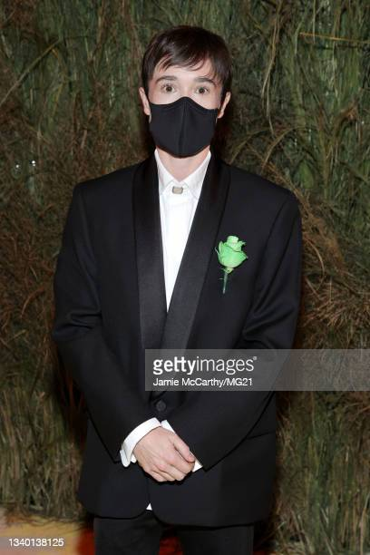 Elliot Page attends the The 2021 Met Gala Celebrating In America: A Lexicon Of Fashion at Metropolitan Museum of Art on September 13, 2021 in New...