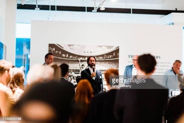 Elliot Richardson Jay Rutland Brad Friedel and David Yarrow attend the Maddox Gallery Los Angeles Presents The Disrupters by David Yarrow on June 13...