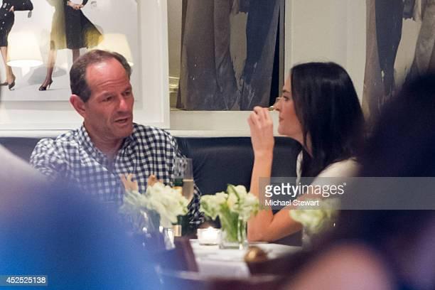 Elliot Spitzer and Lis Smith seen having dinner on July 21 2014 in New York City