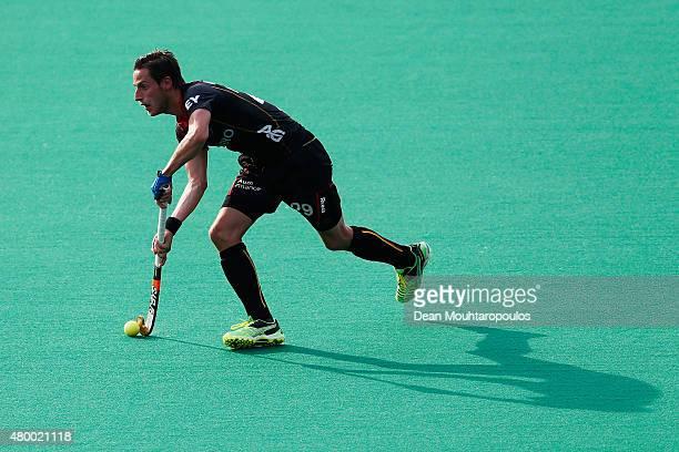 Elliot van Strydonck of Belgium during the Fintro Hockey World League SemiFinal match between India and Belgium held at KHC Dragons Gemeentepark...