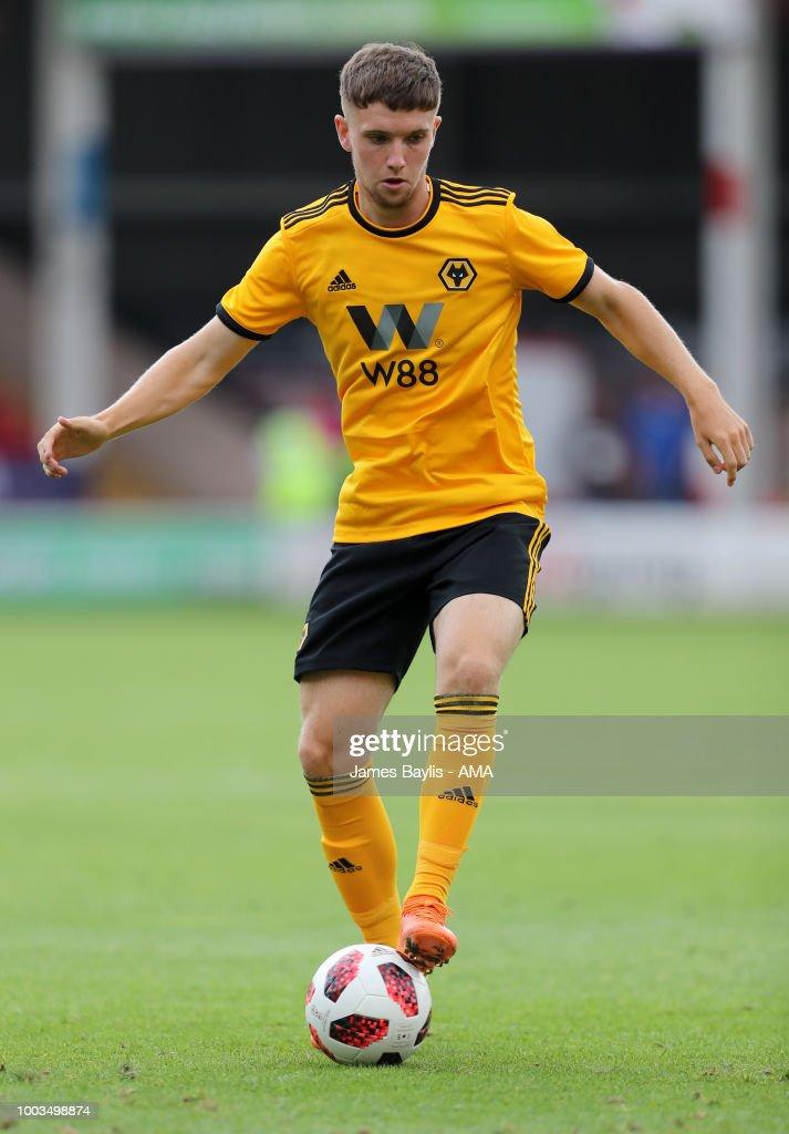 Elliot Watt of Wolverhampton Wanderers during the Pre Season Friendly between Wolverhampton Wanderers and Ajax at Banks' Stadium on July 19, 2018 in Walsall, England.