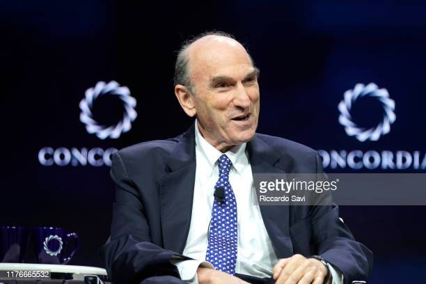 Elliott Abrams Special Representative For Venezuela United States Of America speaks onstage during the 2019 Concordia Annual Summit Day 1 at Grand...