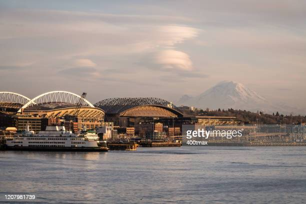 elliott bay - north pacific stock pictures, royalty-free photos & images
