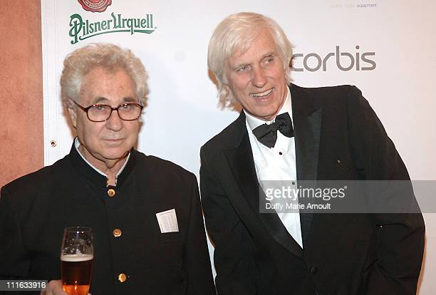Elliott Erwitt and Douglas Kirkland during 4th Annual Lucie Awards at American Airlines Theatre in New York City New York United States