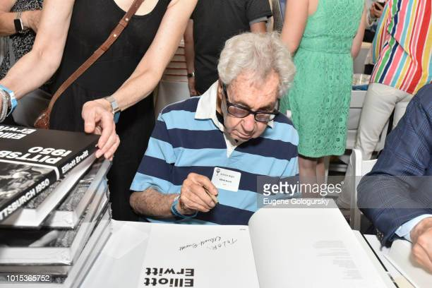 Elliott Erwitt attends Authors Night At East Hampton Library on August 11 2018 in East Hampton New York