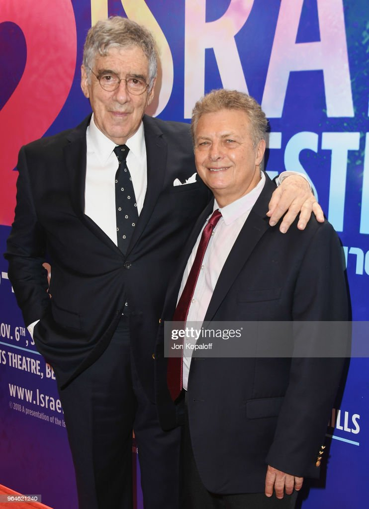 Elliott Gould and Founder of Israel Film Festival Meir Fenigstein attend the 32nd Israel Film Festival In Los Angeles Sponsor Luncheon at Four Seasons Hotel Los Angeles at Beverly Hills on May 31, 2018 in Los Angeles, California.