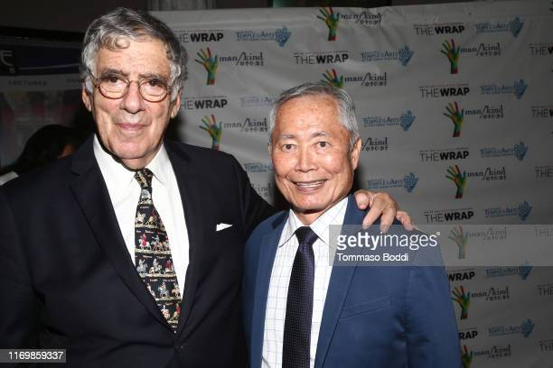 Elliott Gould and George Takei attend the Chiune Sugihara Benefit Event at The Saban on August 23 2019 in Beverly Hills California
