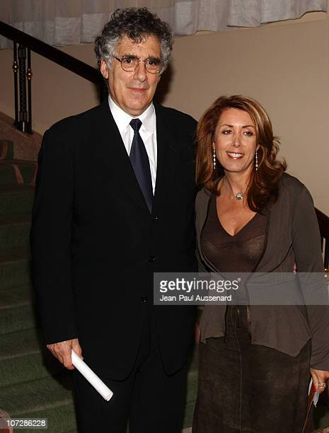 Elliott Gould and guest during The Museum of Television and Radio Honors CBS News's Dan Rather and Friends Producing Team Inside at Beverly Hills...