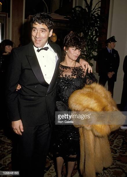 Elliott Gould and Jennifer Bogart during 42nd Annual Golden Globe Awards at Beverly Hilton Hotel in Beverly Hills California United States
