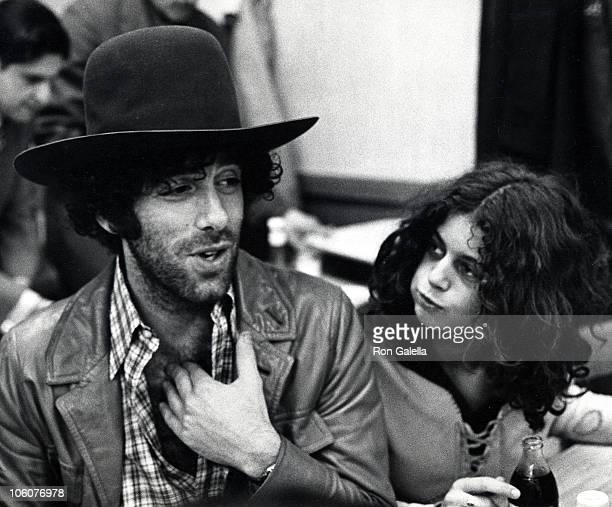 Elliott Gould and Jennifer Bogart during Benefit for Bella Abzug at Katz's Deli in New York City New York United States