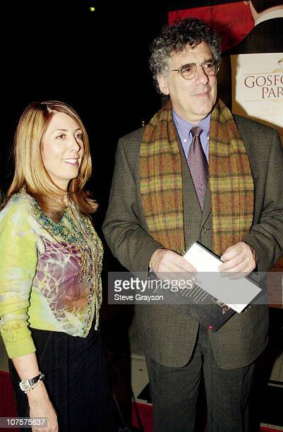 Elliott Gould Susan Brookes pose for photographers at The Los Angeles premiere of Gosford Park at the Academy of Motion Pictures Arts Sciences in...